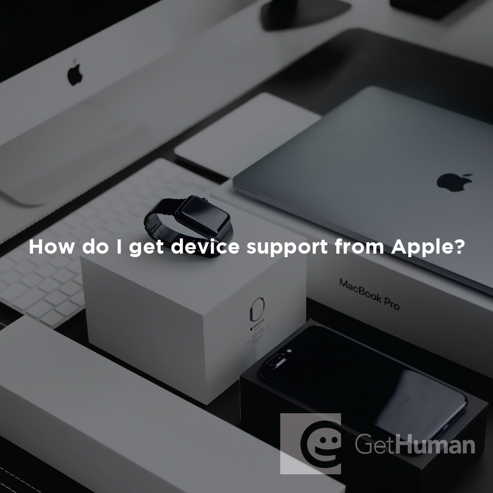 How Do I Get Device Support from Apple?