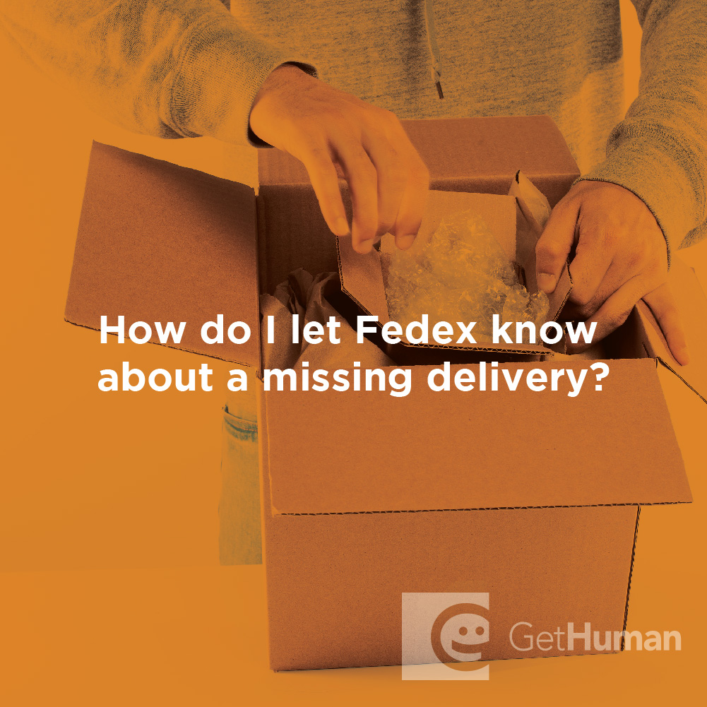 How Do I Let Fedex Know About a Missing Delivery?
