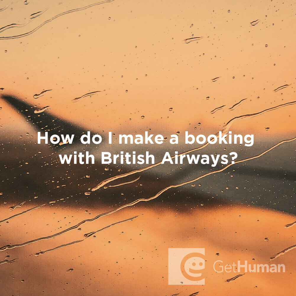 How Do I Make a Booking with British Airways?