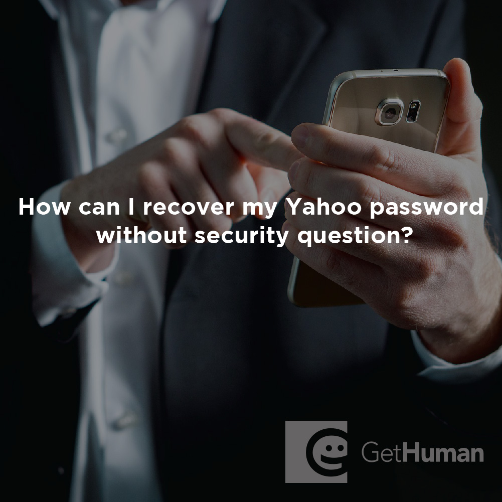 How Do I Recover My Yahoo Password Without a Security Question?