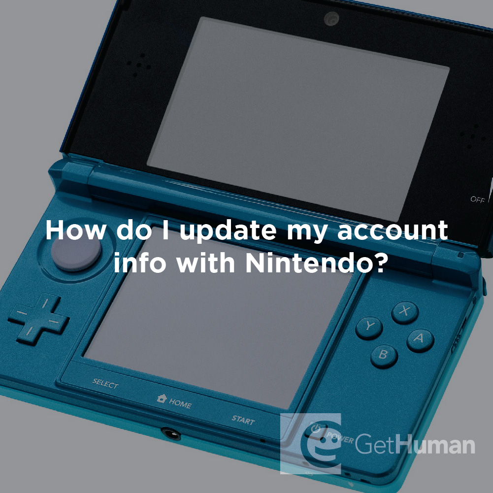 How Do I Update My Account Info with Nintendo?