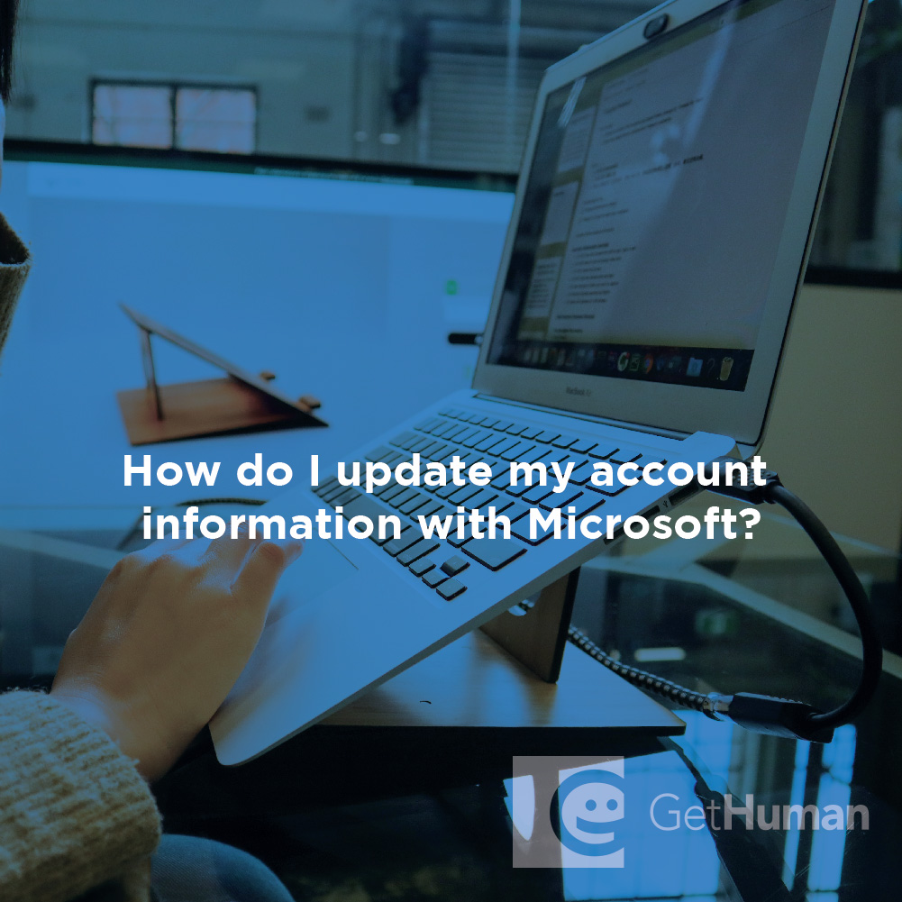 How Do I Update My Account Information with Microsoft?