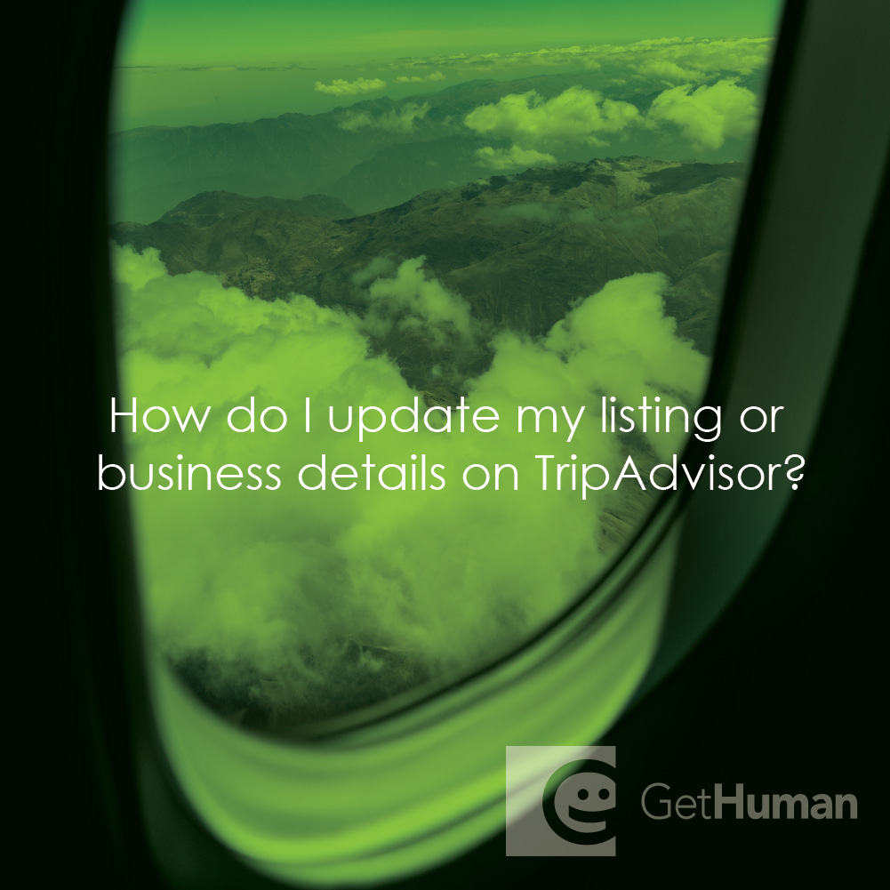 How Do I Update My Listing or Business Details on Tripadvisor?