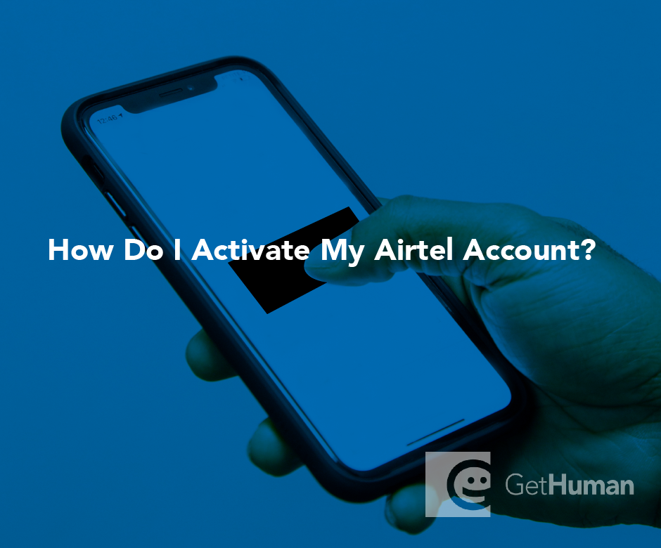 How do I activate my Airtel account?