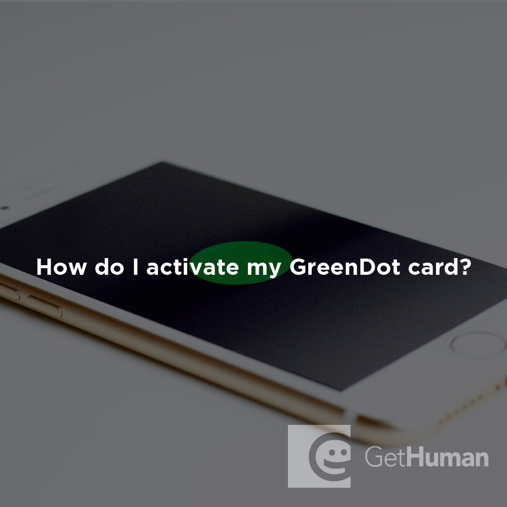 How do I activate my Green Dot card?
