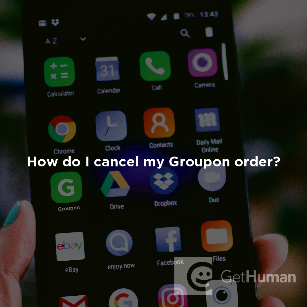 How do I cancel my Groupon order?