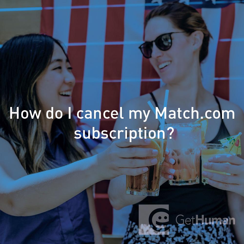 How do I cancel my Match.com subscription?
