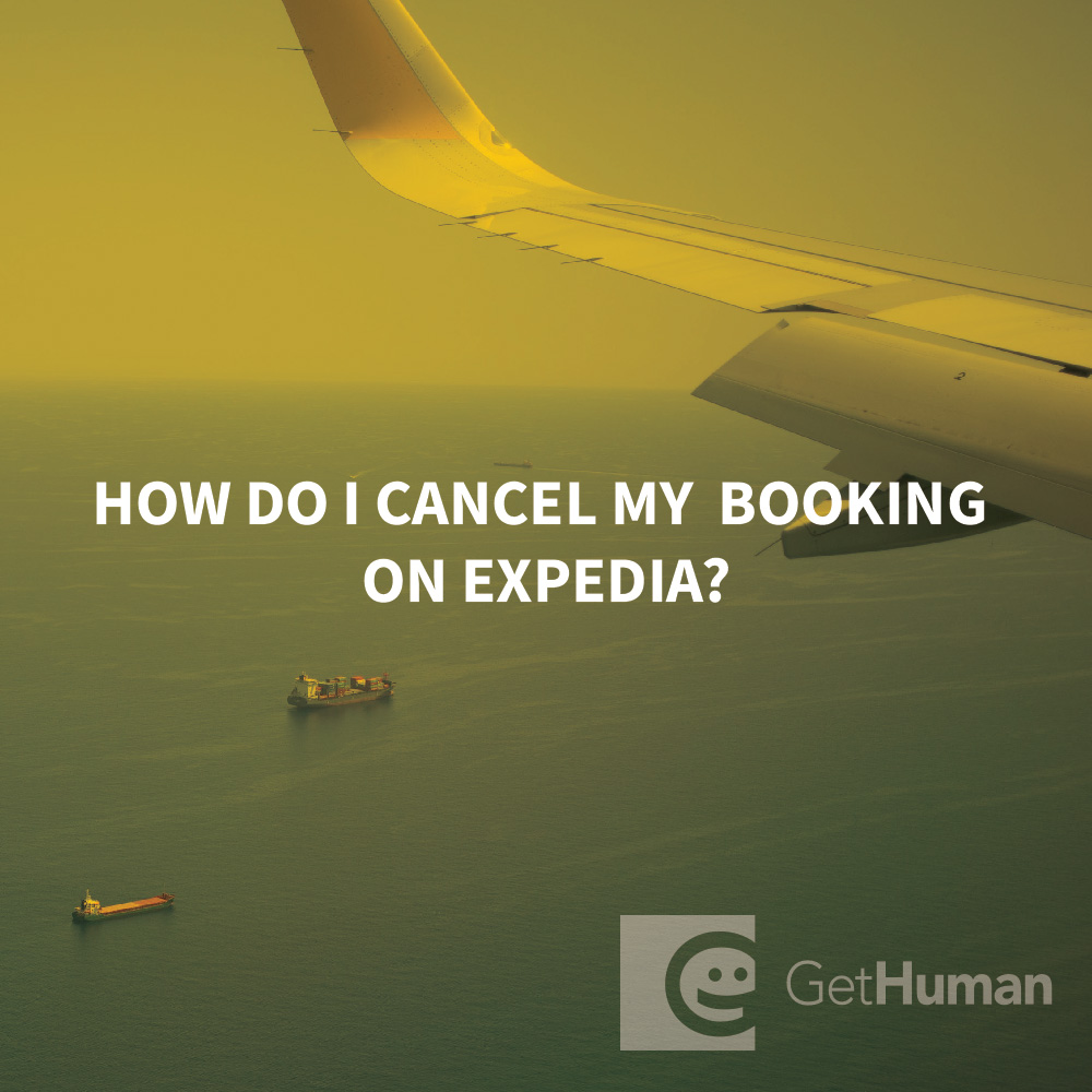 How do I cancel my booking on Expedia?