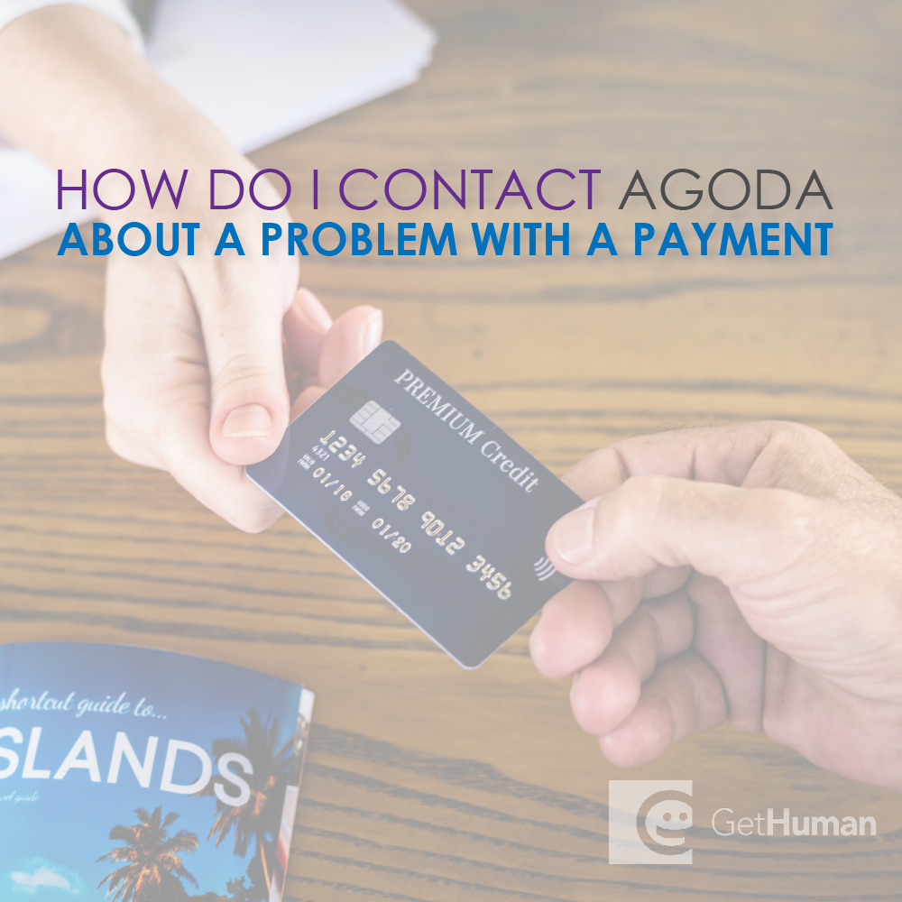 How do I contact Agoda about a problem with a payment?