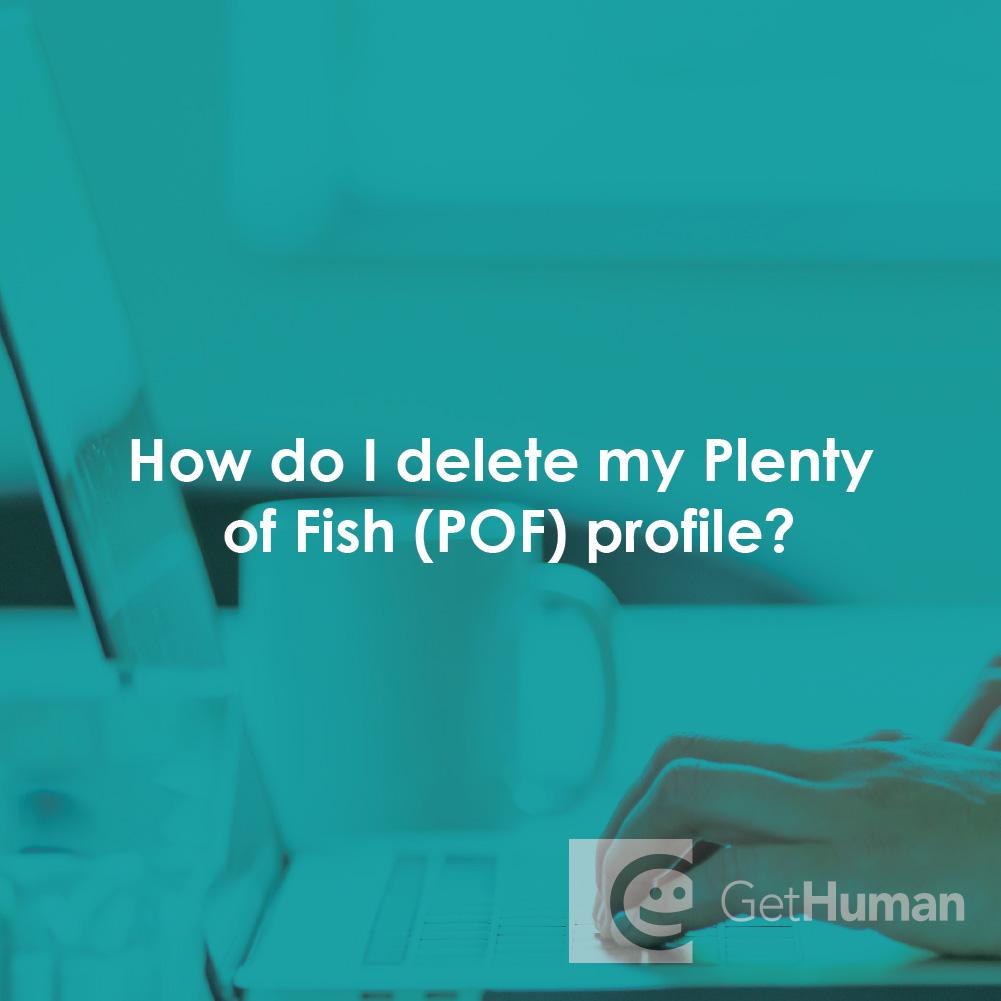 How do I delete my Plenty of Fish (POF) profile?