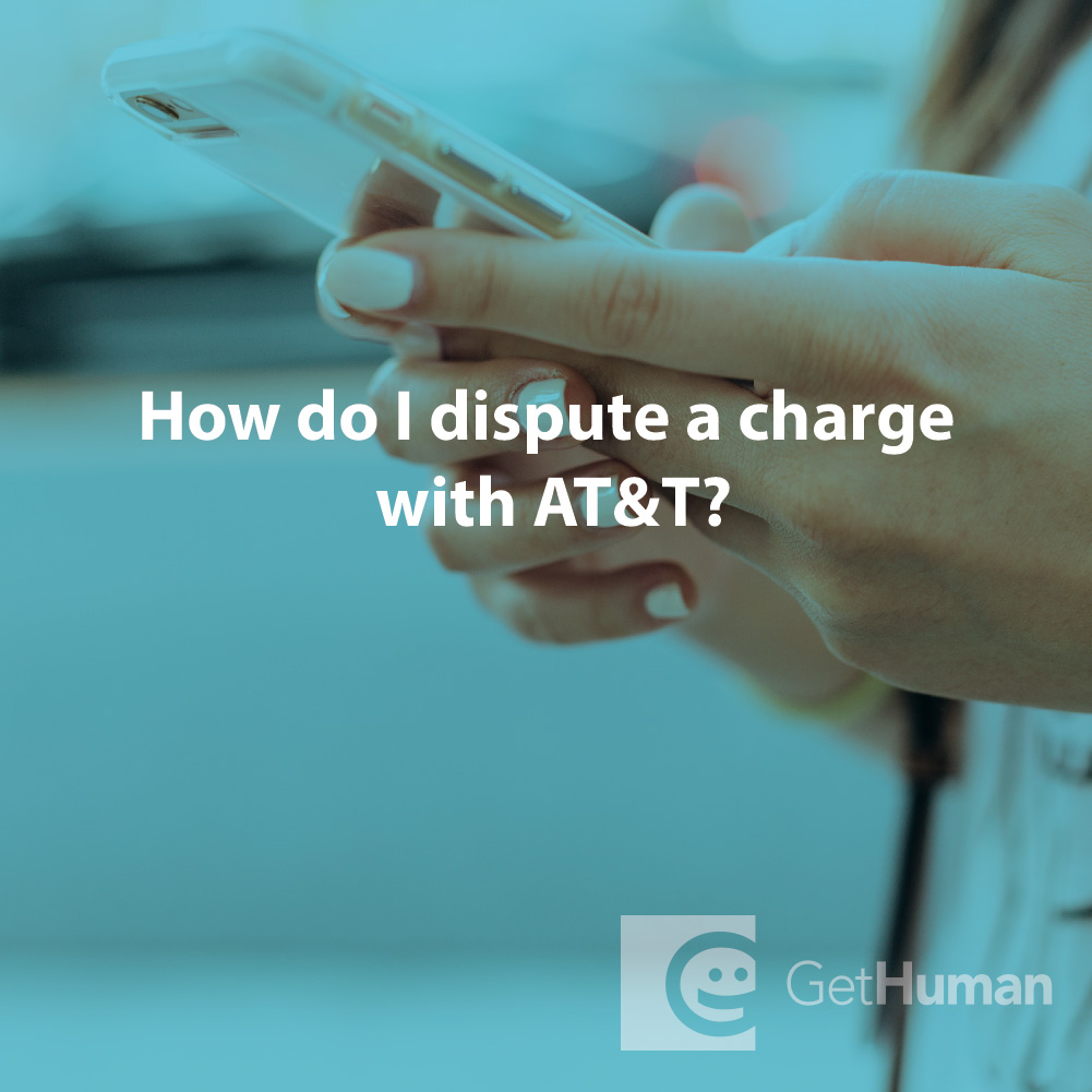 How do I dispute a charge with AT&T?