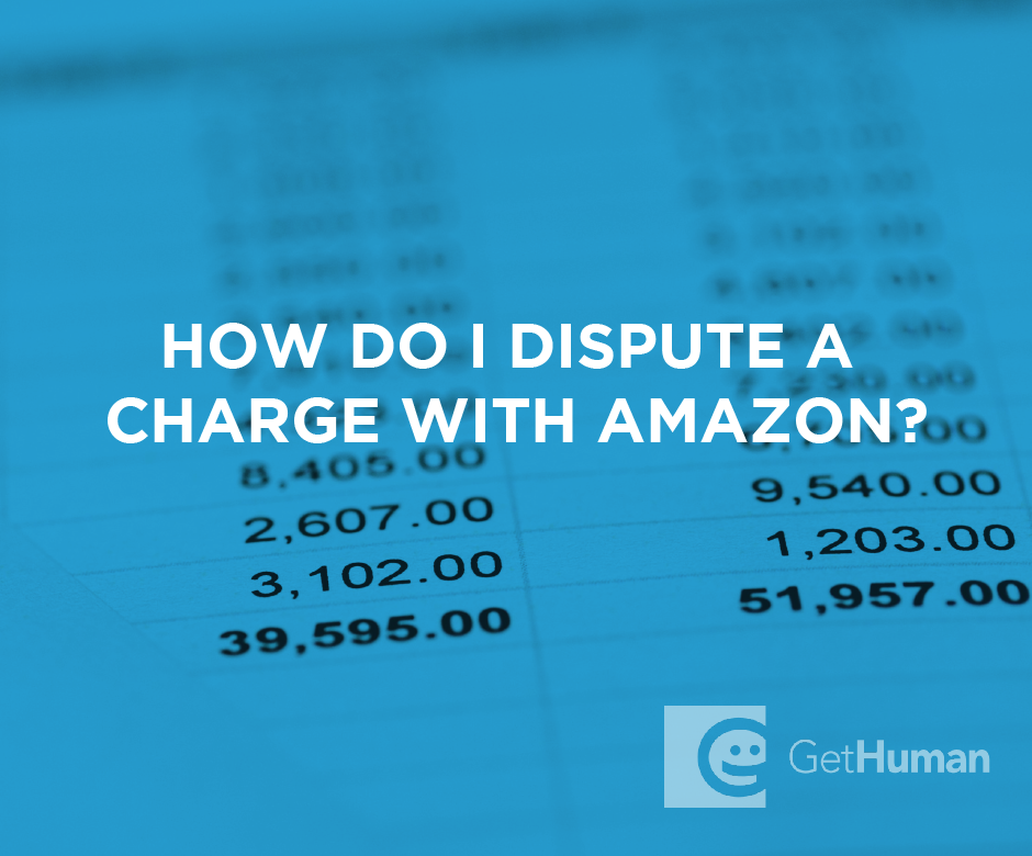 How do I dispute a charge with Amazon?
