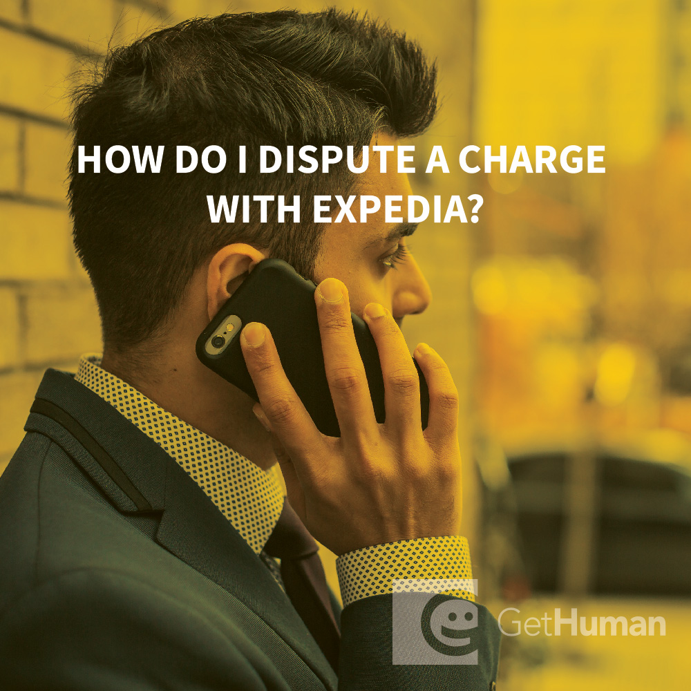 How do I dispute a charge with Expedia?