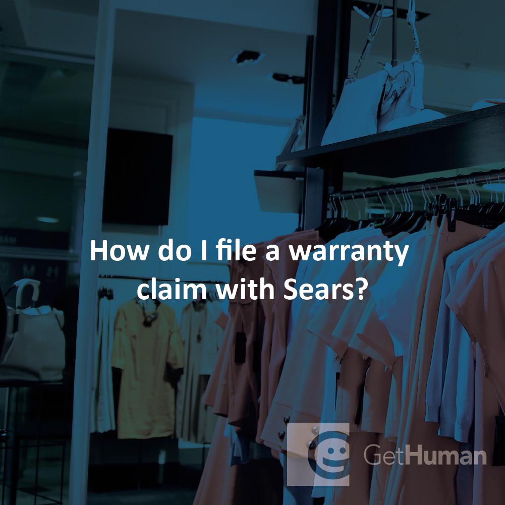 How do I file a warranty claim with Sears?