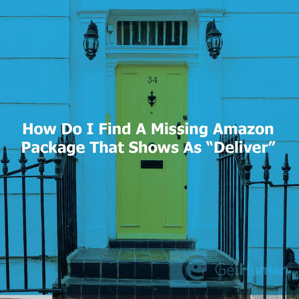 How do I find my missing Amazon package that shows as delivered?
