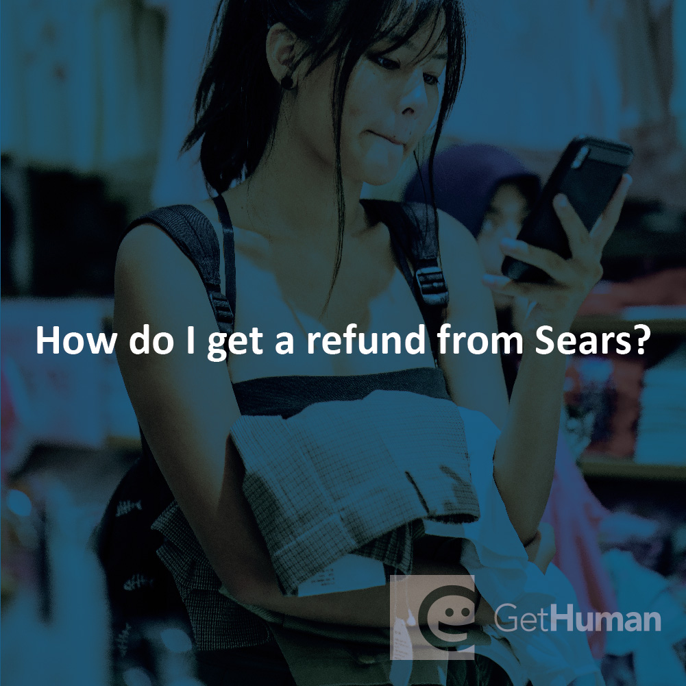 How do I get a refund from Sears?