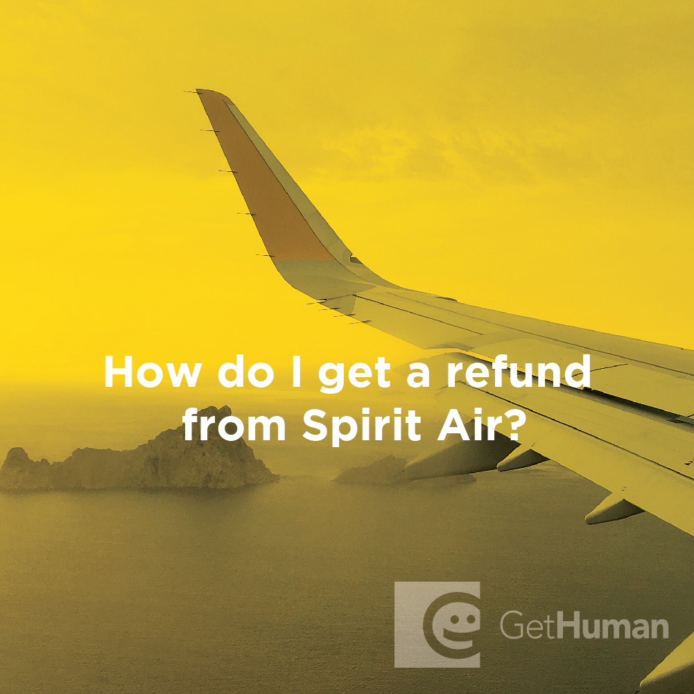 How do I get a refund from Spirit Air?