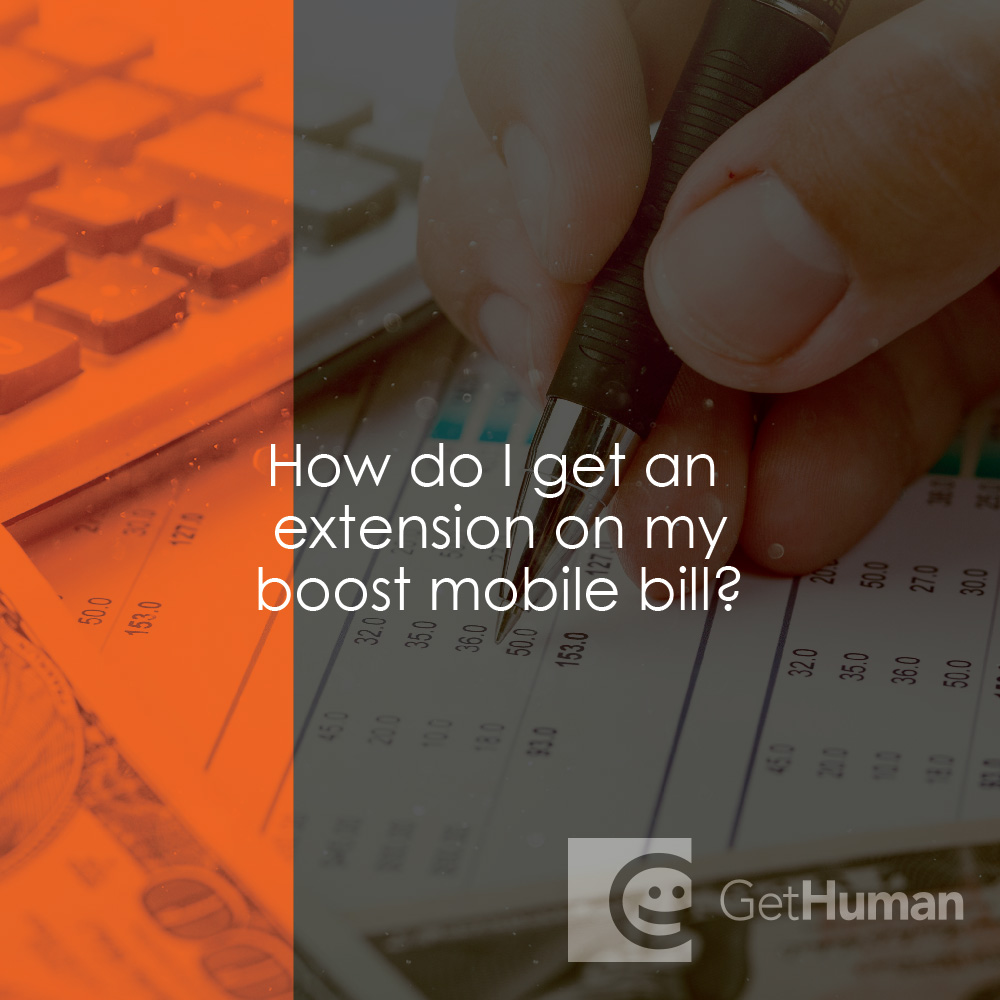 How do I get an extension on my Boost Mobile bill?