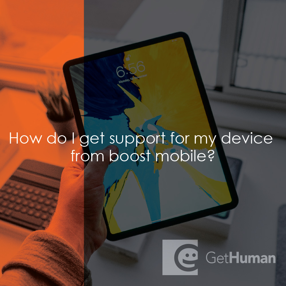 How do I get support for my device from Boost Mobile?