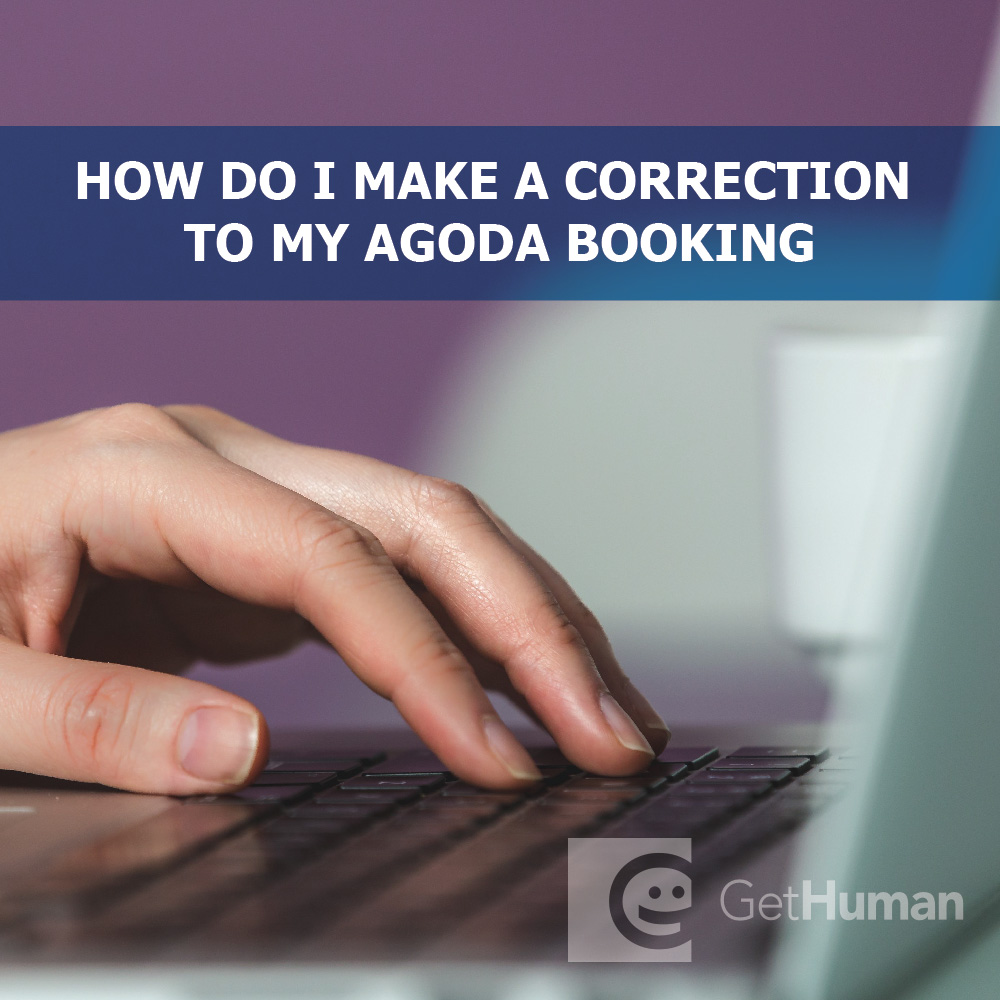 How do I make a correction to my Agoda booking?