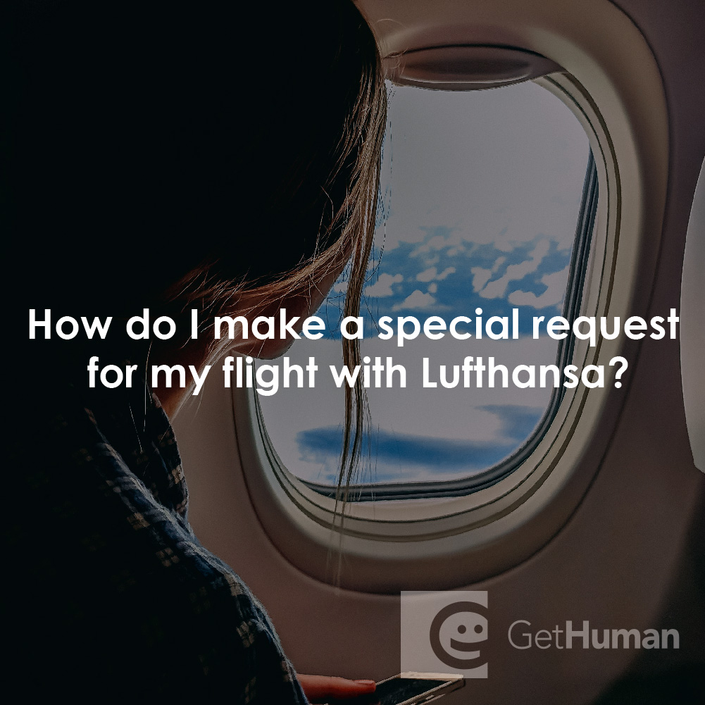 How do I make a special request for my flight with Lufthansa?