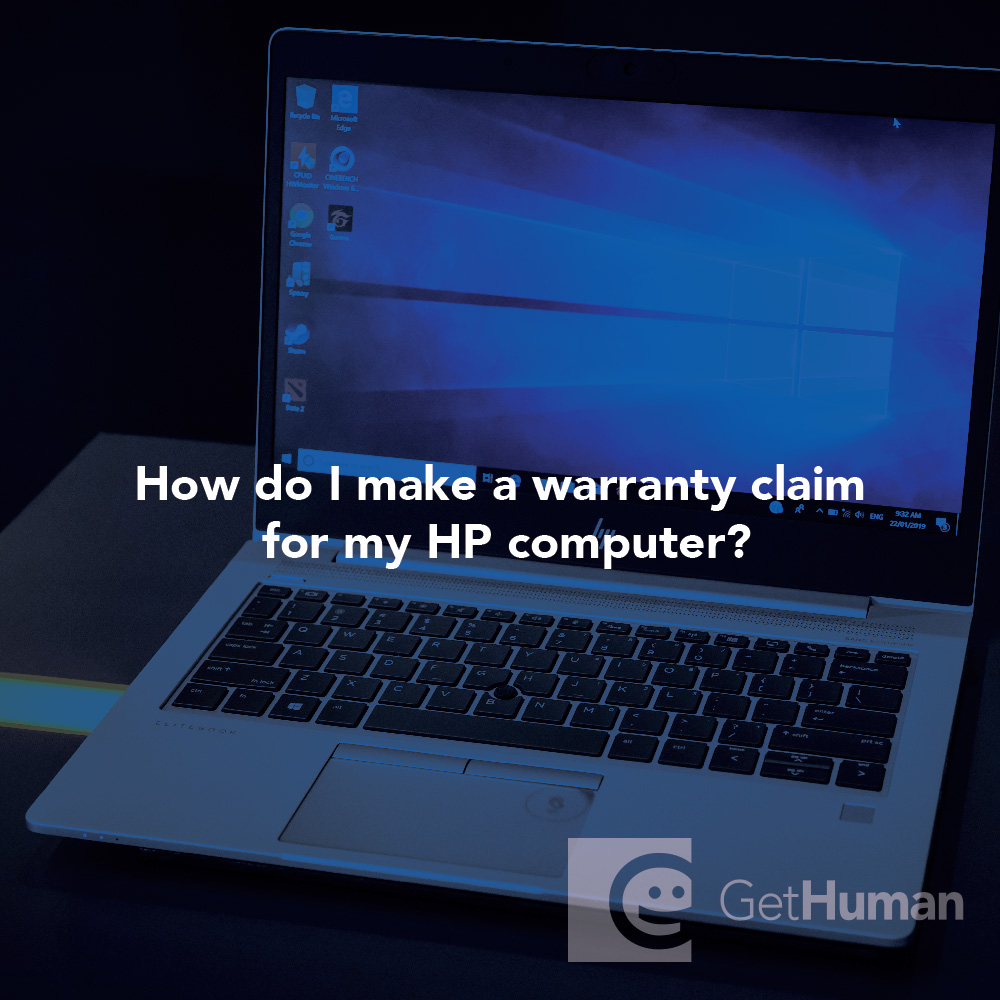 How do I make a warranty claim for my HP computer?