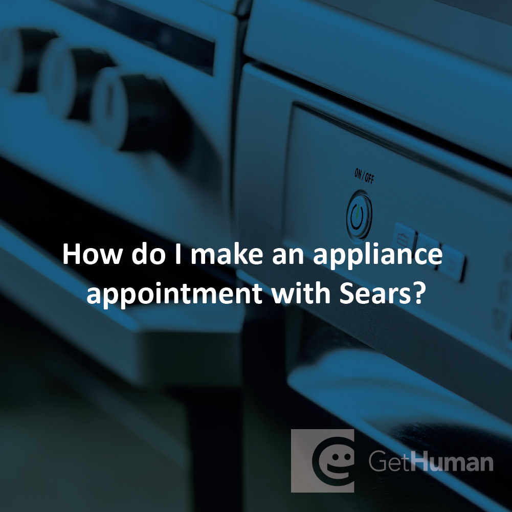 How do I make an appliance appointment with Sears?
