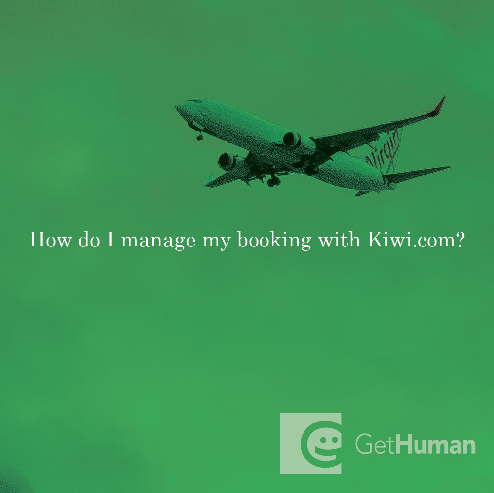 How do I manage my booking with Kiwi.com?