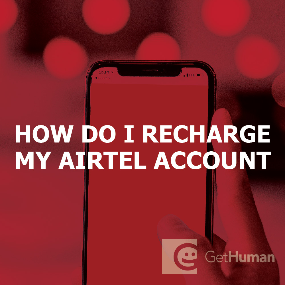 How do I recharge my Airtel account?