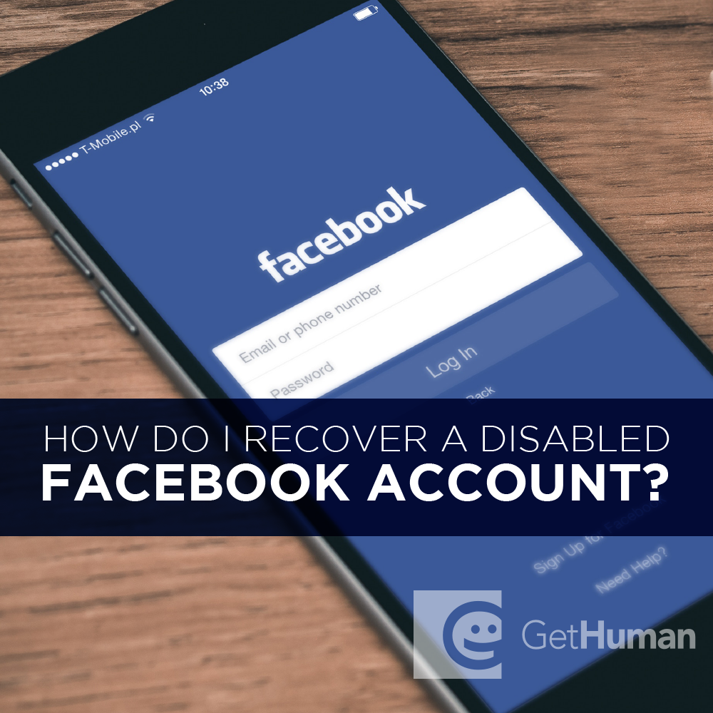 How do I recover a disabled Facebook account?