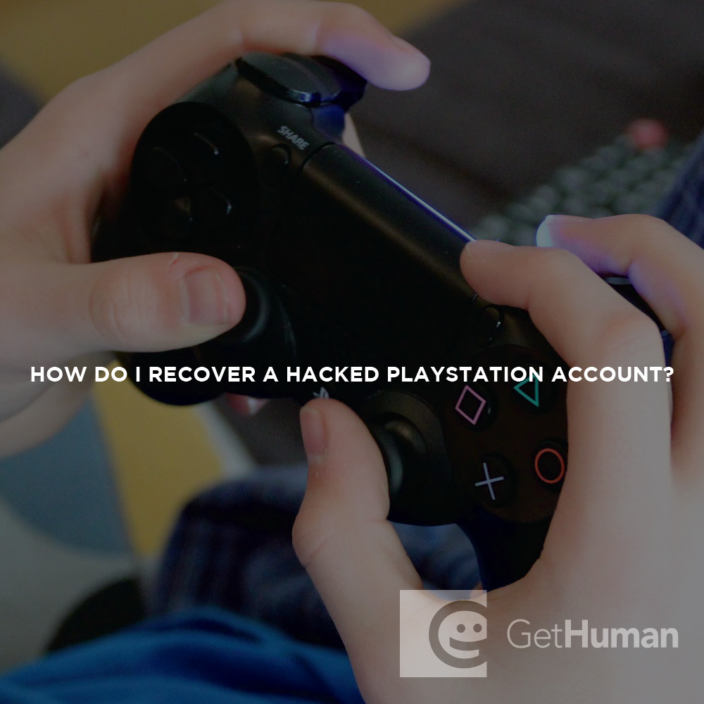 How do I recover a hacked Playstation account?