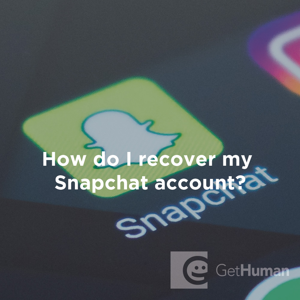 How do I recover a hacked account on Snapchat?