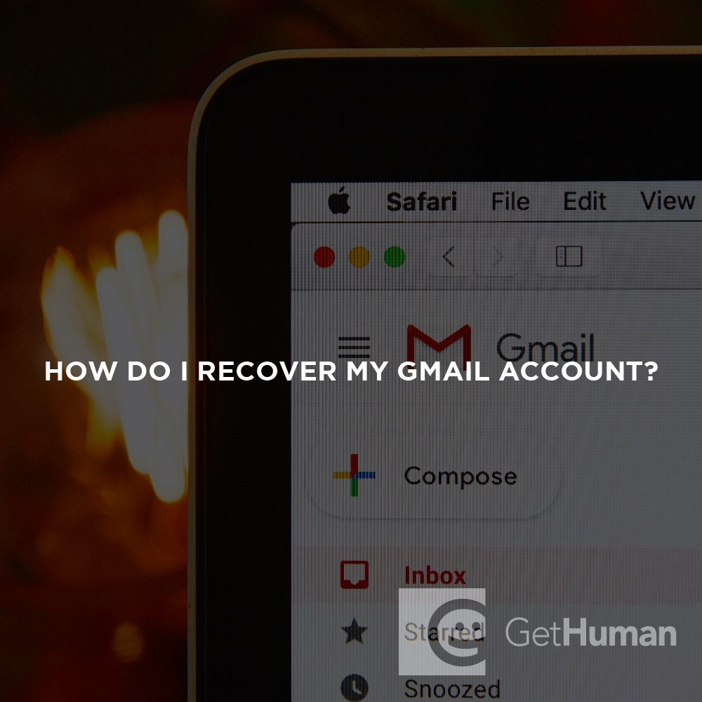 How do I recover my Gmail account?