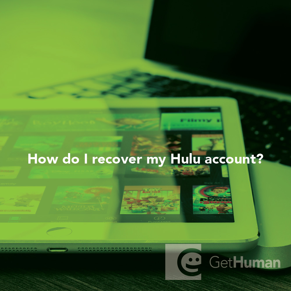 How do I recover my Hulu account?