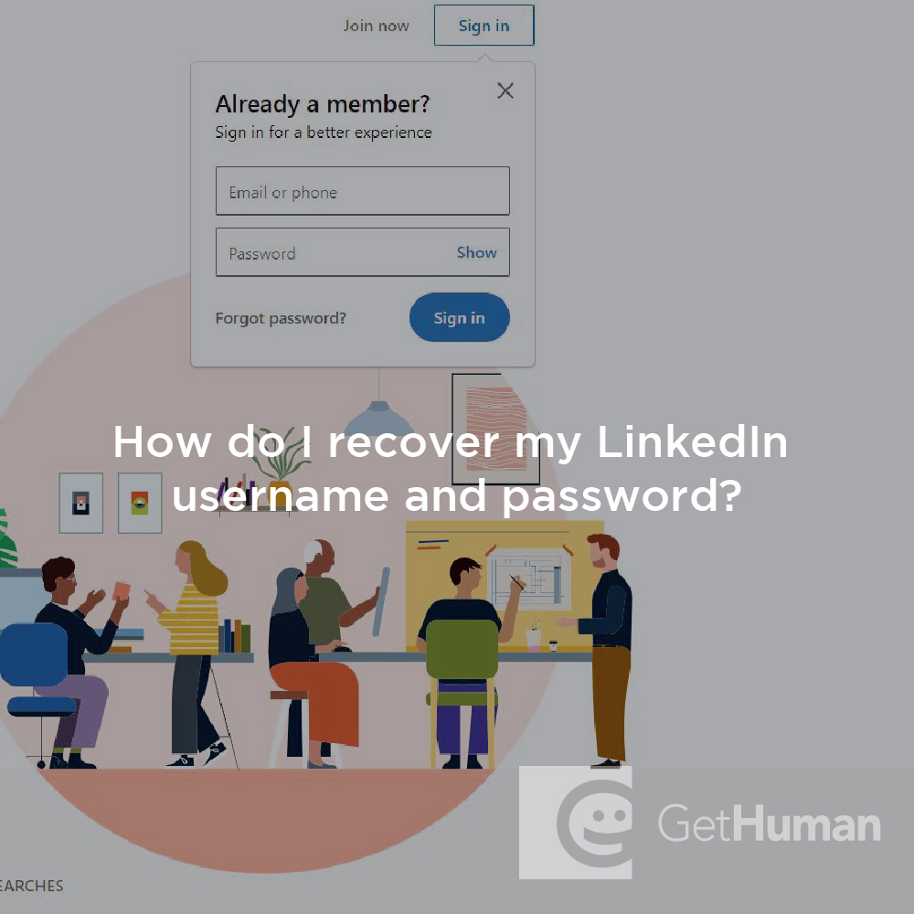 How do I recover my LinkedIn username and password?
