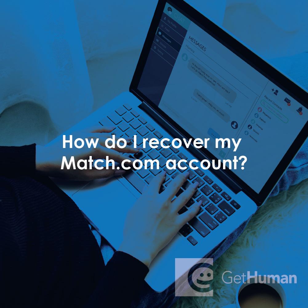 How do I recover my Match.com account?