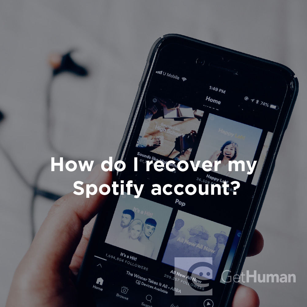 How do I recover my Spotify account?