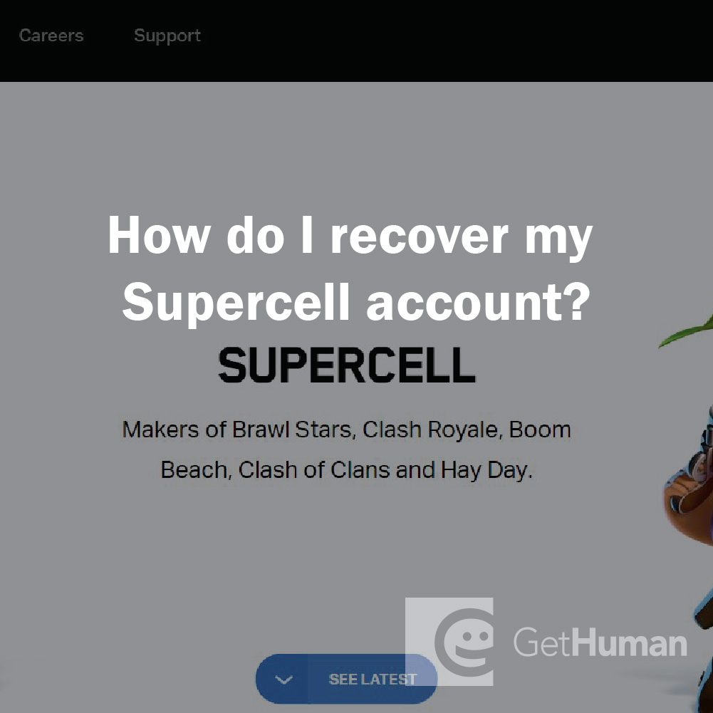 How do I recover my Supercell account?