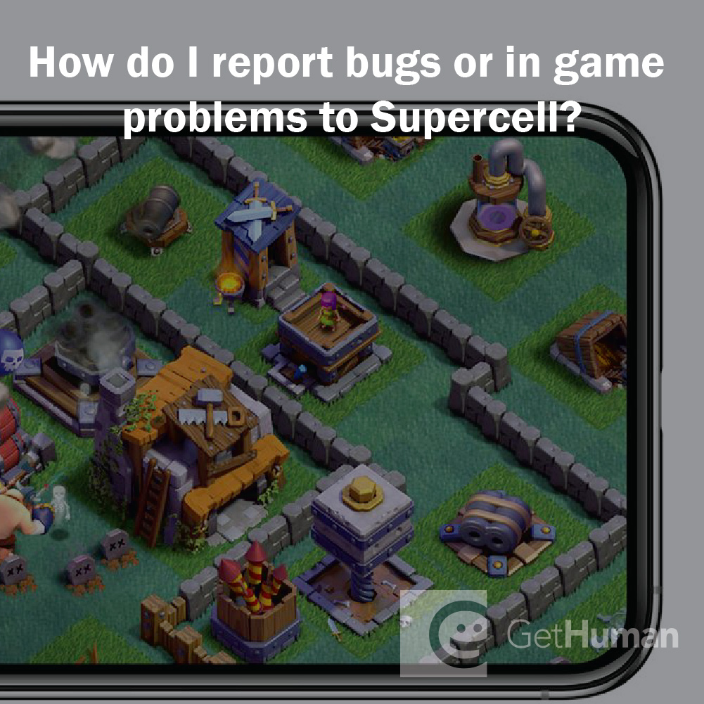 How do I report bugs or in-game problems to Supercell?