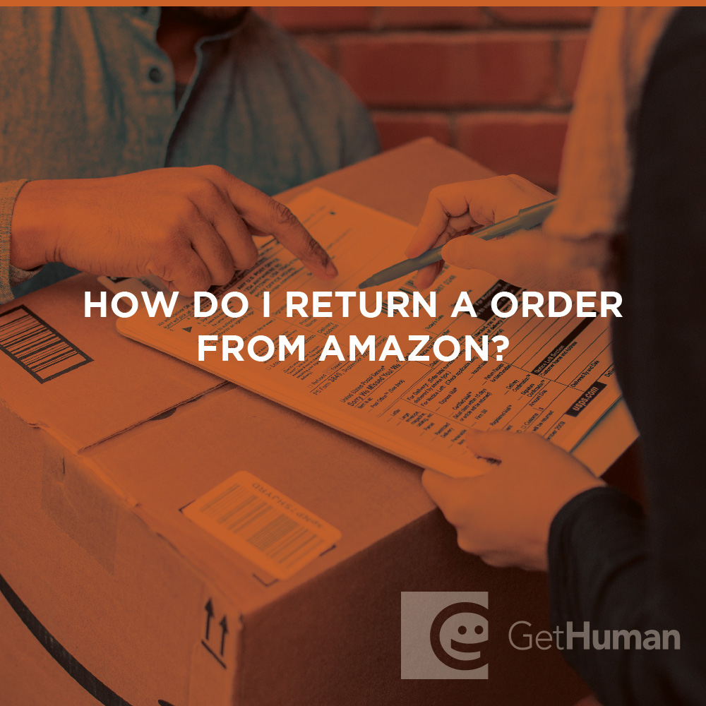 How do I return an order from Amazon?