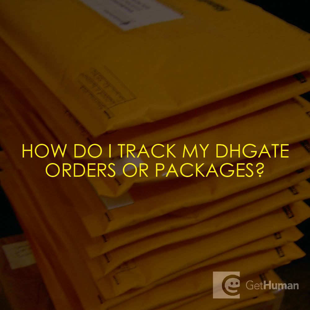 How do I track my DHGate order or packages?