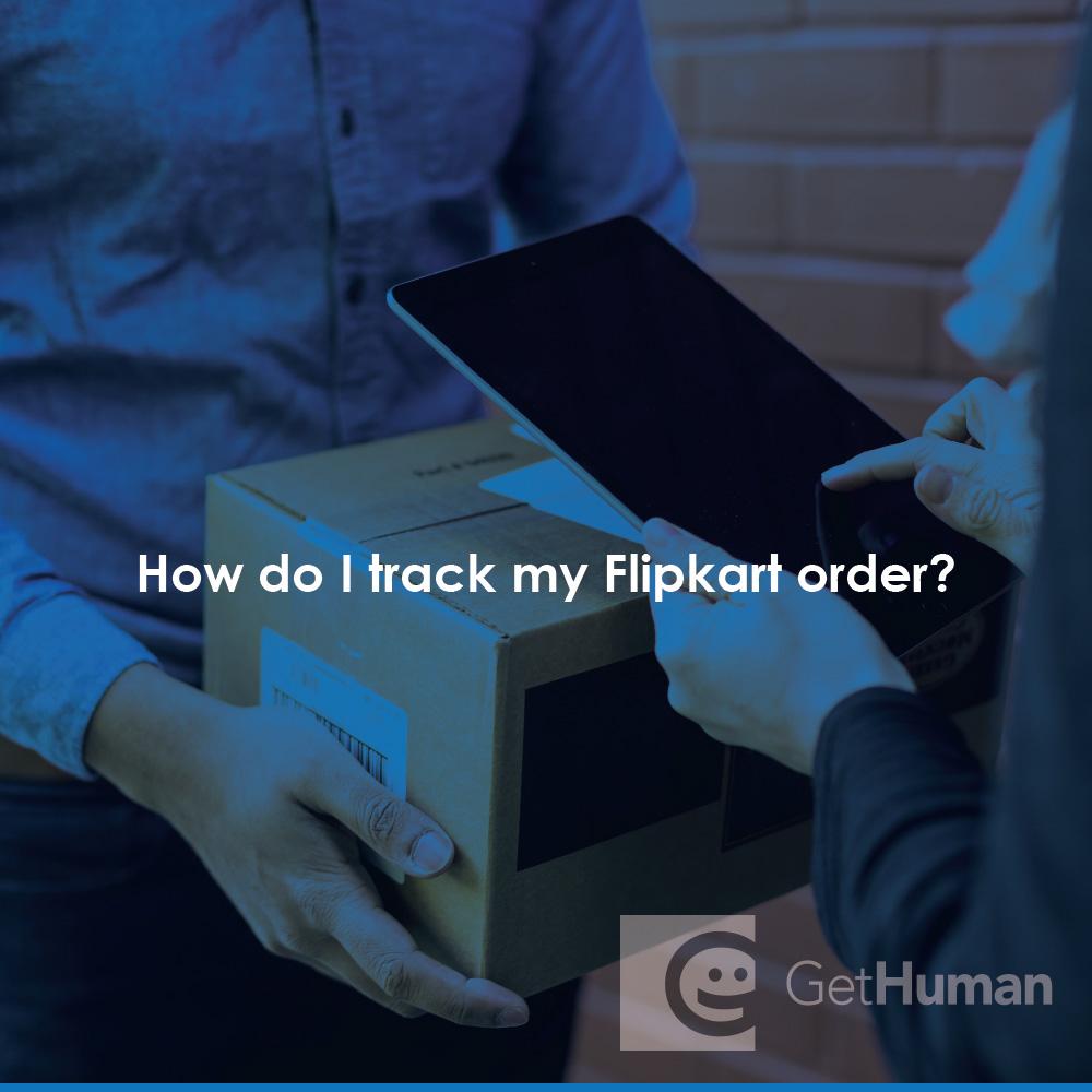 How do I track my Flipkart order?