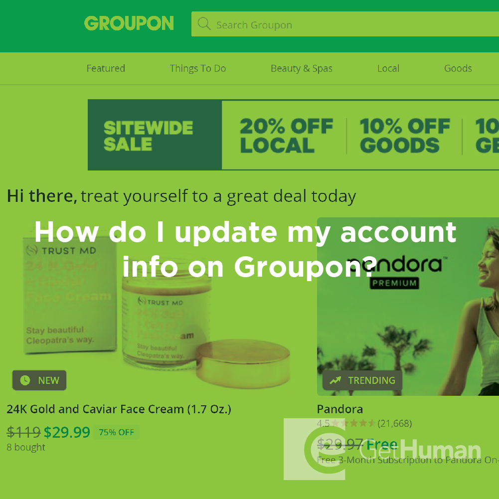 How do I update my account info on Groupon?