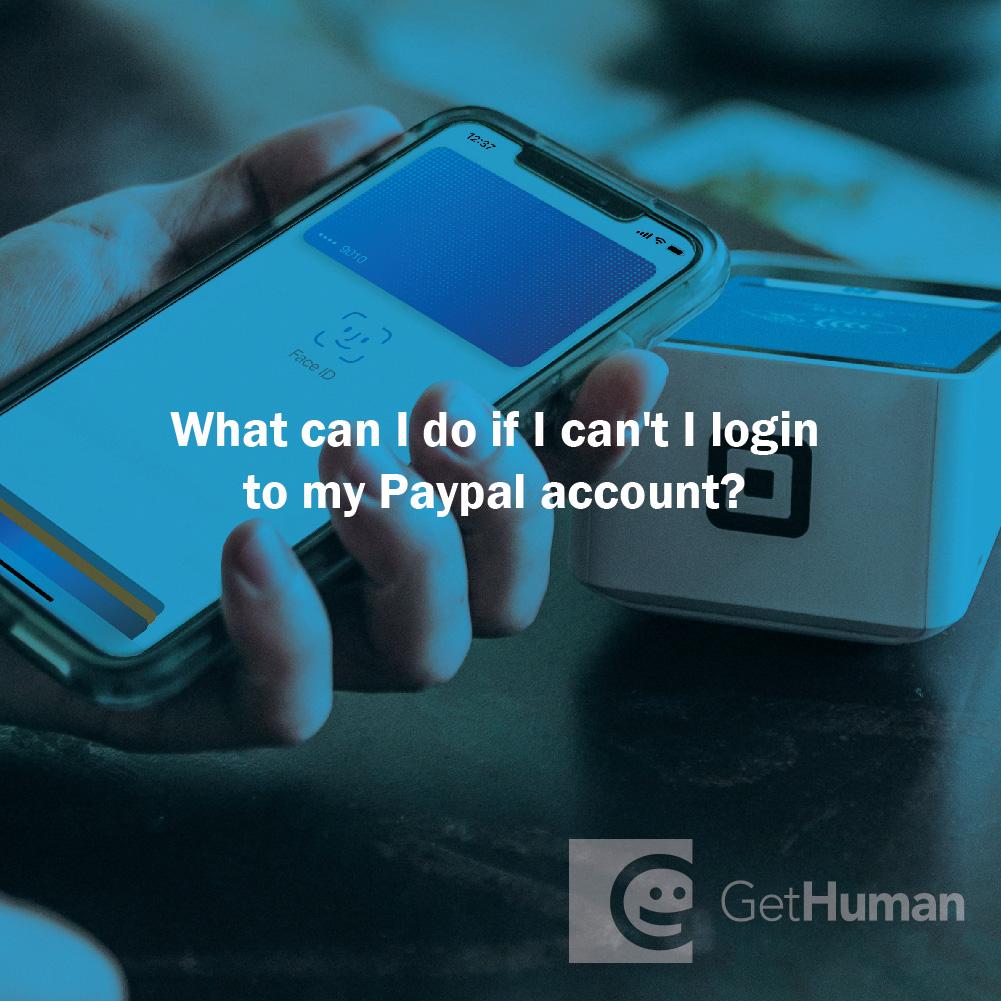 What Can I Do If I Can't I Login to My Paypal Account?
