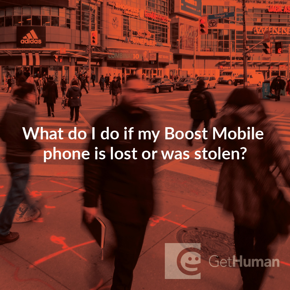 What do I do if my Boost Mobile phone is lost or stolen?