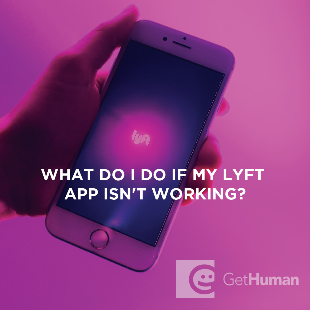 What do I do if my Lyft app is not working?